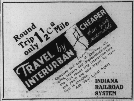 Indiana Railroad System, 6/9/1934