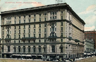 Claypool Hotel…Menu 110 Years Ago today…