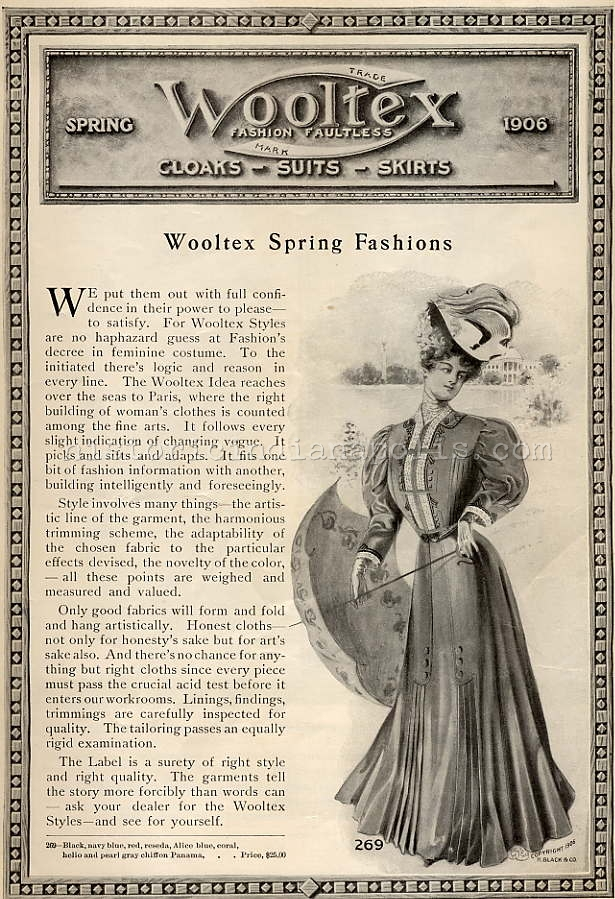 Ladies Lounge: Wooltex Styles–Spring 1906