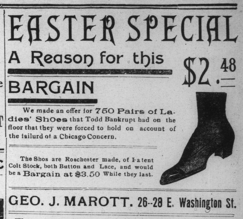 Sunday Ad: Easter Shoes, 1904