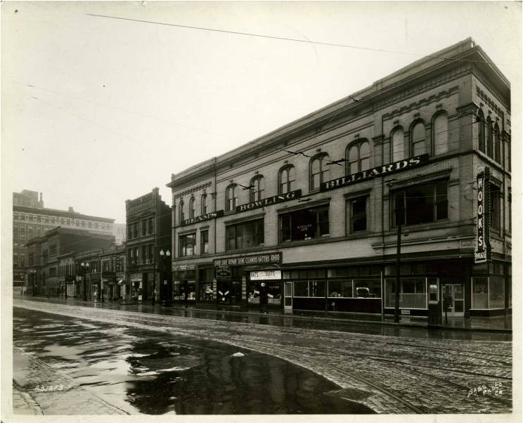 Then and Now: Corner of Ohio and Illinois Streets