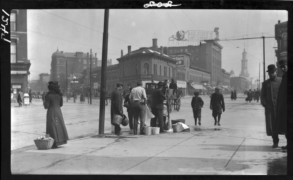 Then and Now: The Old Pump, Massachusetts Avenue and Delaware Street