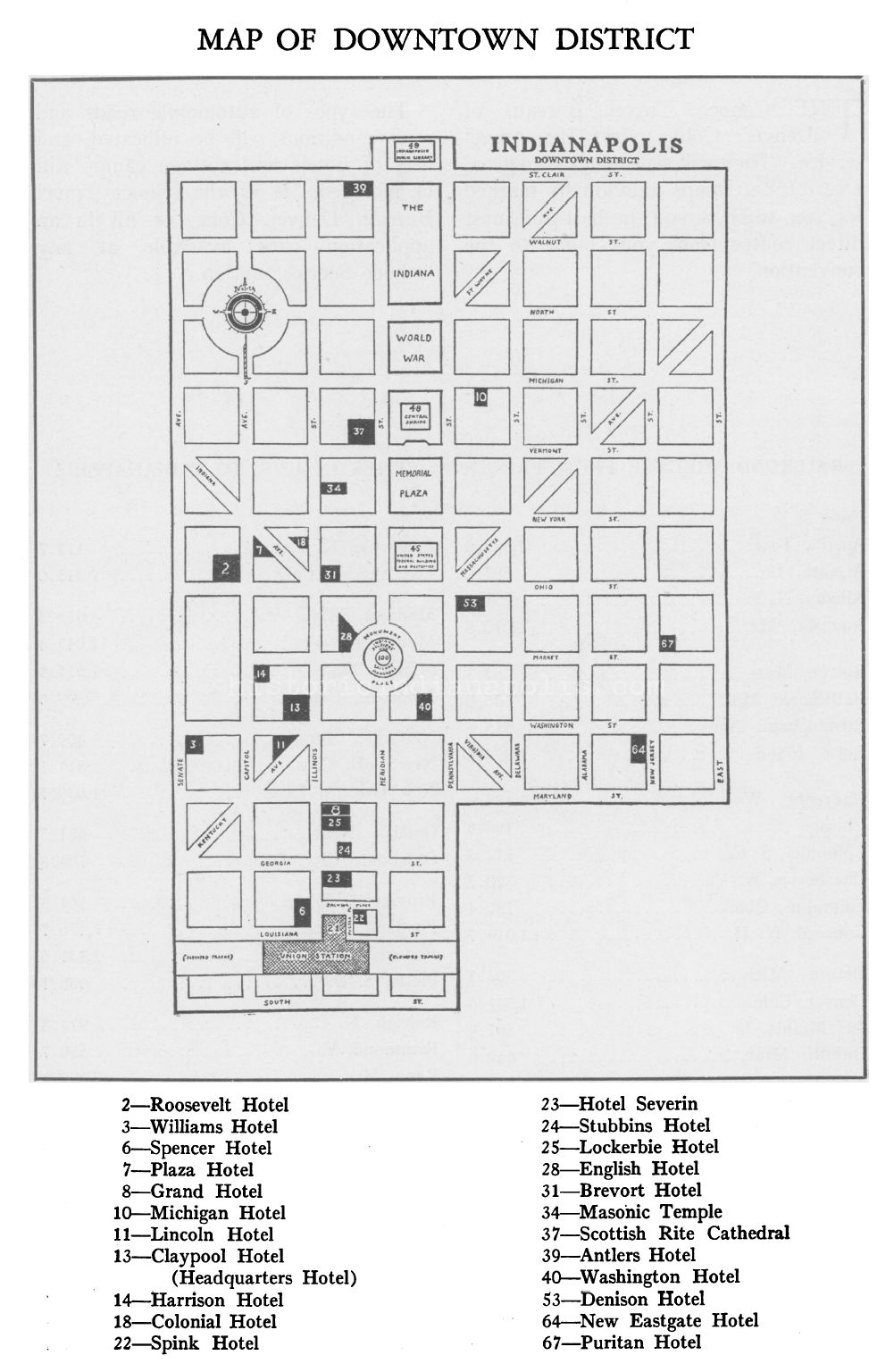Indianapolis Hotels of 1933