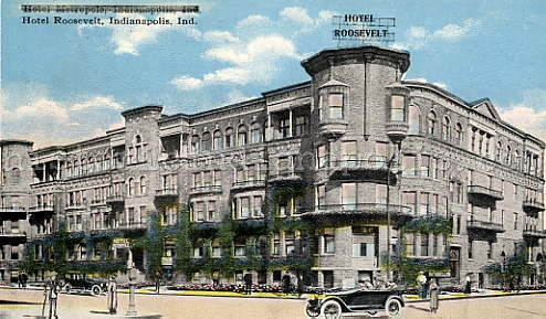 Indianapolis Then and Now: NW Corner of Capitol Avenue and Ohio Street