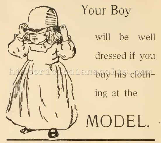 Sunday Ad: the Model Clothing Store, 1895