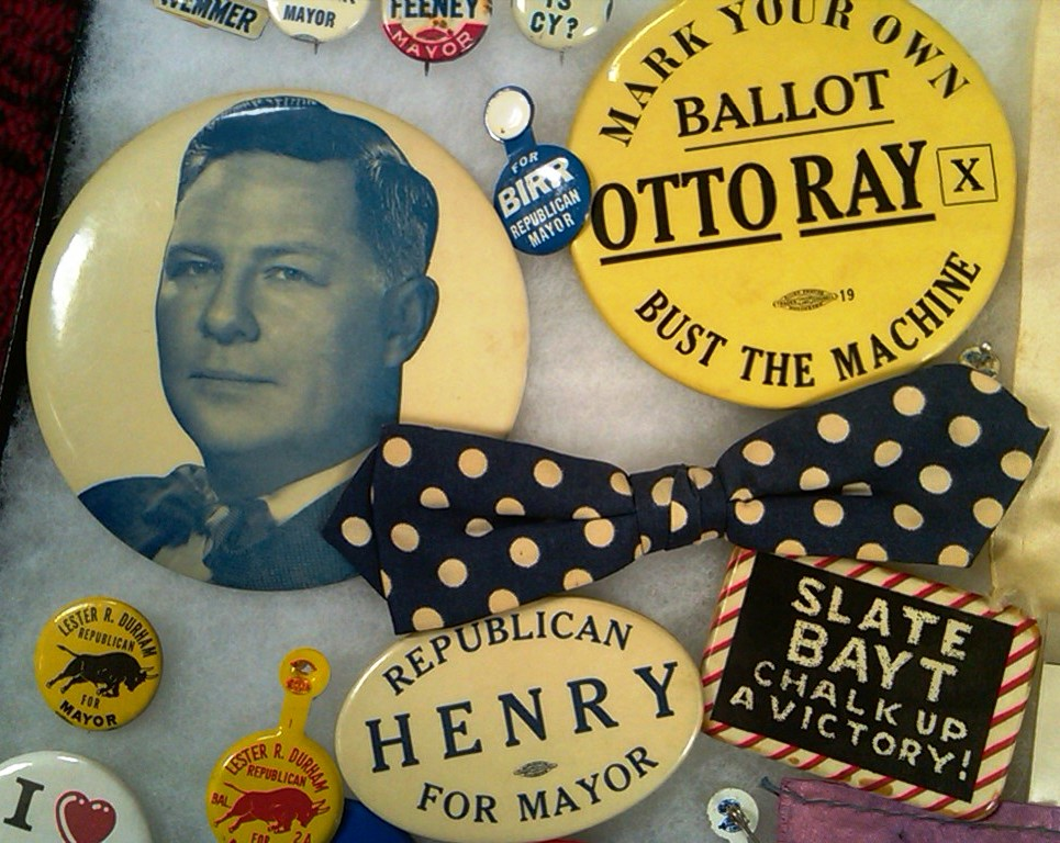 Indianapolis Collected: Vote early–and often–for campaign collectibles
