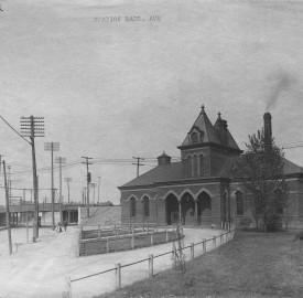 Massachusetts and 10th, Massachusetts Ave Passenger Depot 1907, Bass Photo