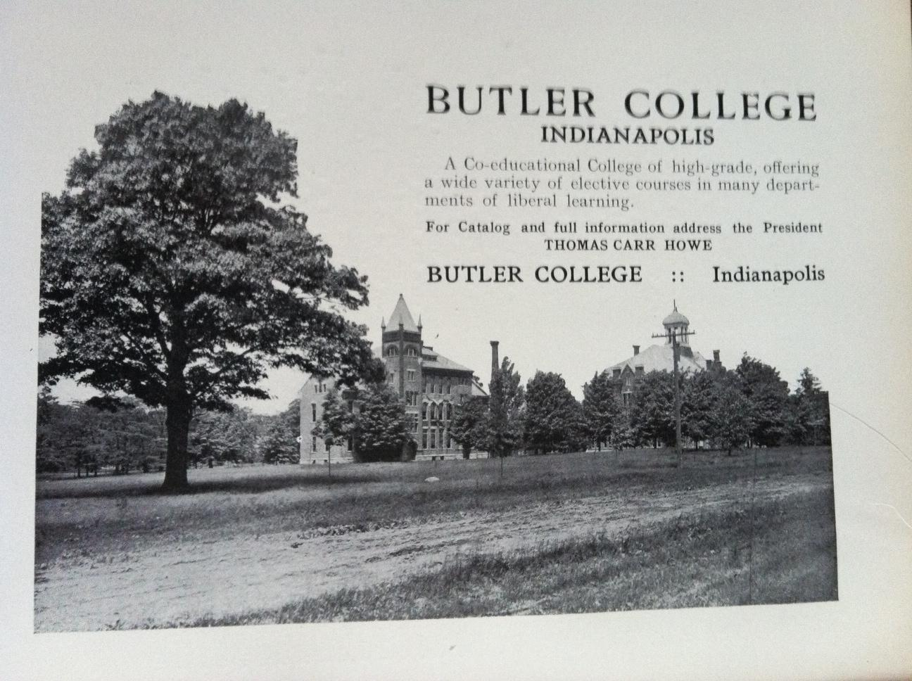 Sunday Adverts: Butler College and Bobbs-Merrill