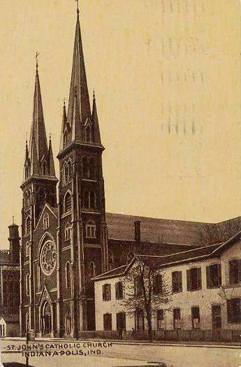 Indianapolis Then and Now: Saint John the Evangelist Catholic Church, 126 W. Georgia Street