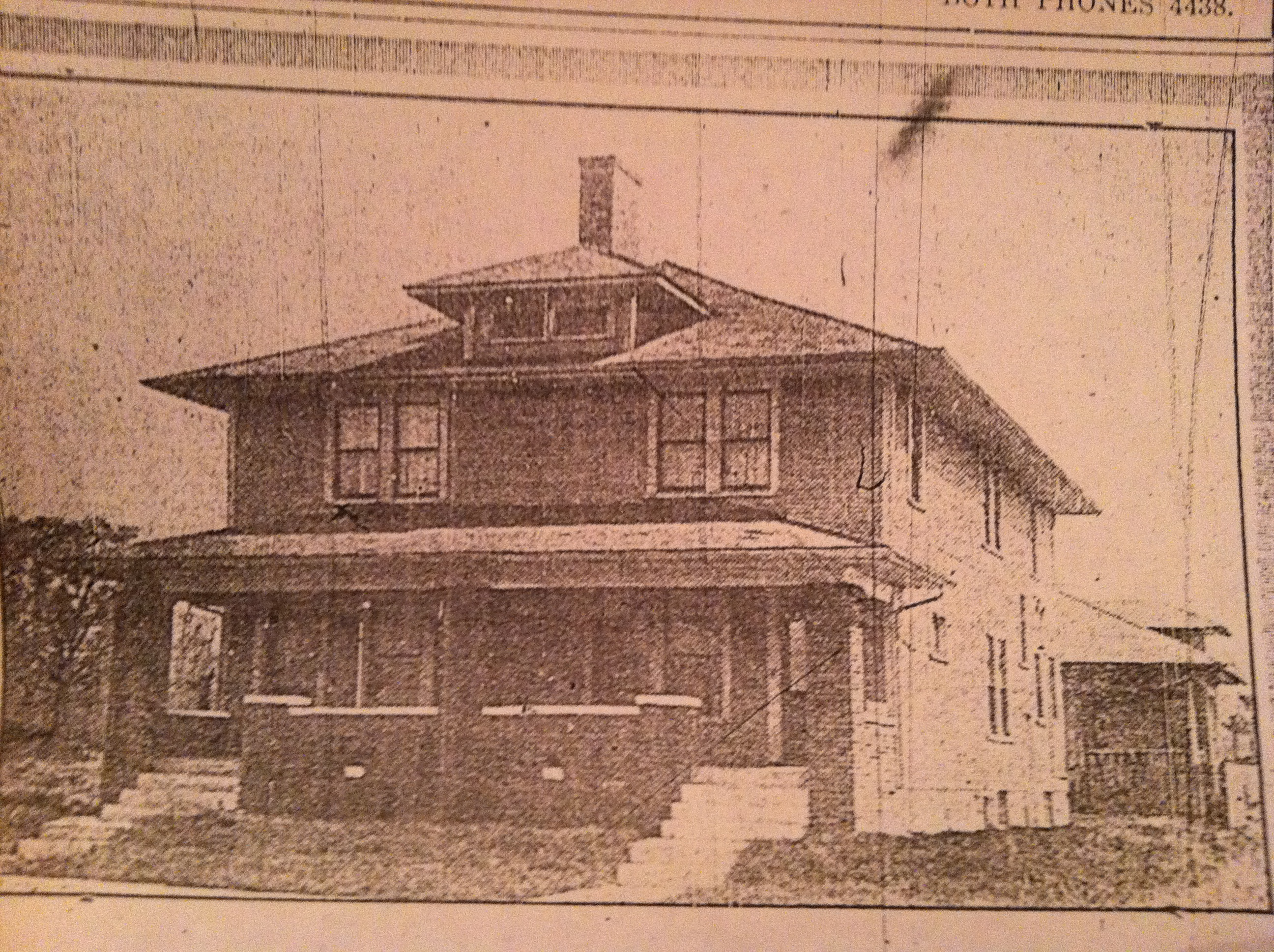 Home at 25th & Highland in 1916