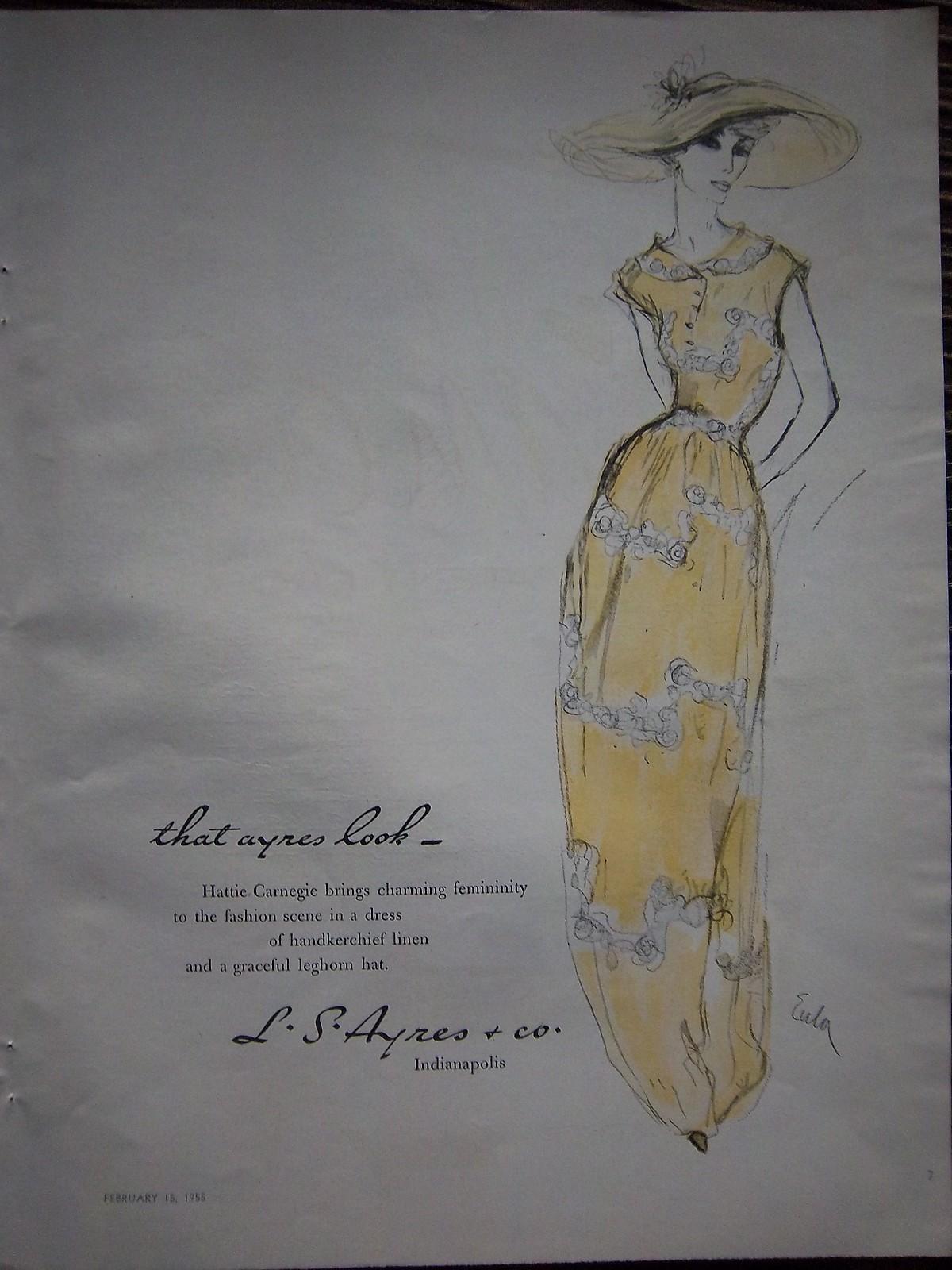 Ladies Lounge: That Ayres Look, 1955 Hattie Carnegie