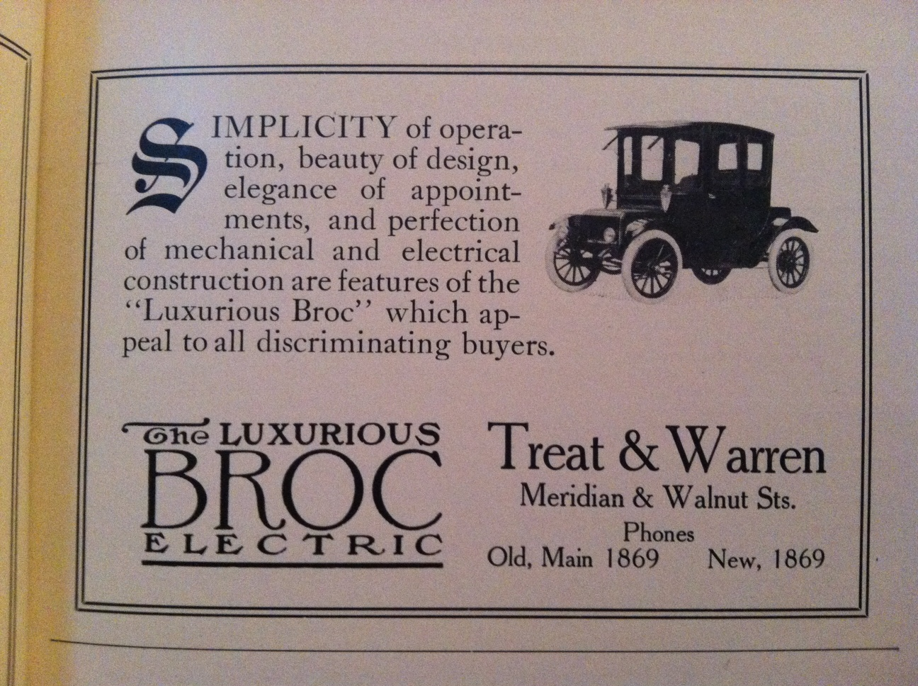 Sunday Adverts: Treat and Warren