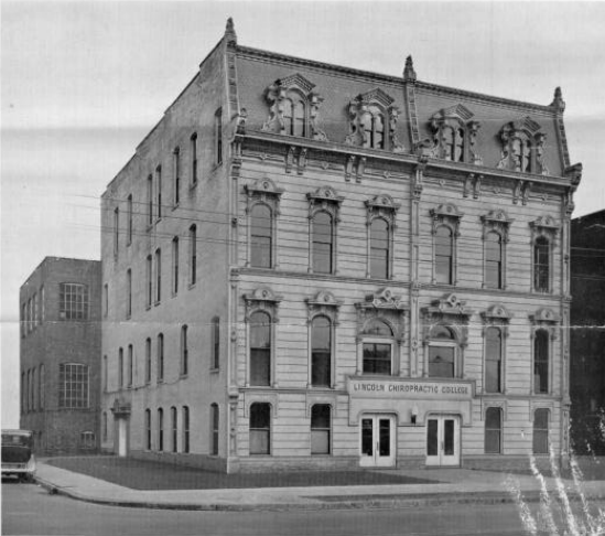 Indianapolis Then and Now: Lincoln Chiropractic College, 633-635 N. Pennsylvania Street
