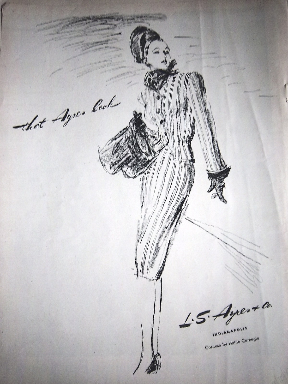 Ladies Lounge: L.S. Ayres, Fall 1944 Suit