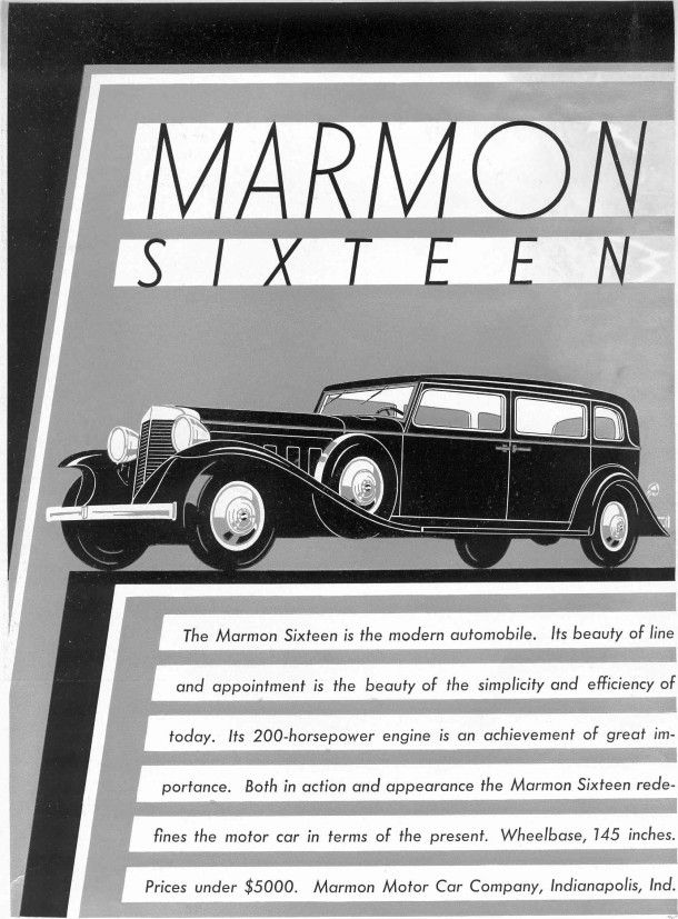 1931 Marmon Sixteen advertisement