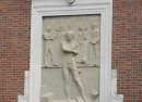 Classically inspired relief on Shortridge High School (3401 North Meridian Street)
