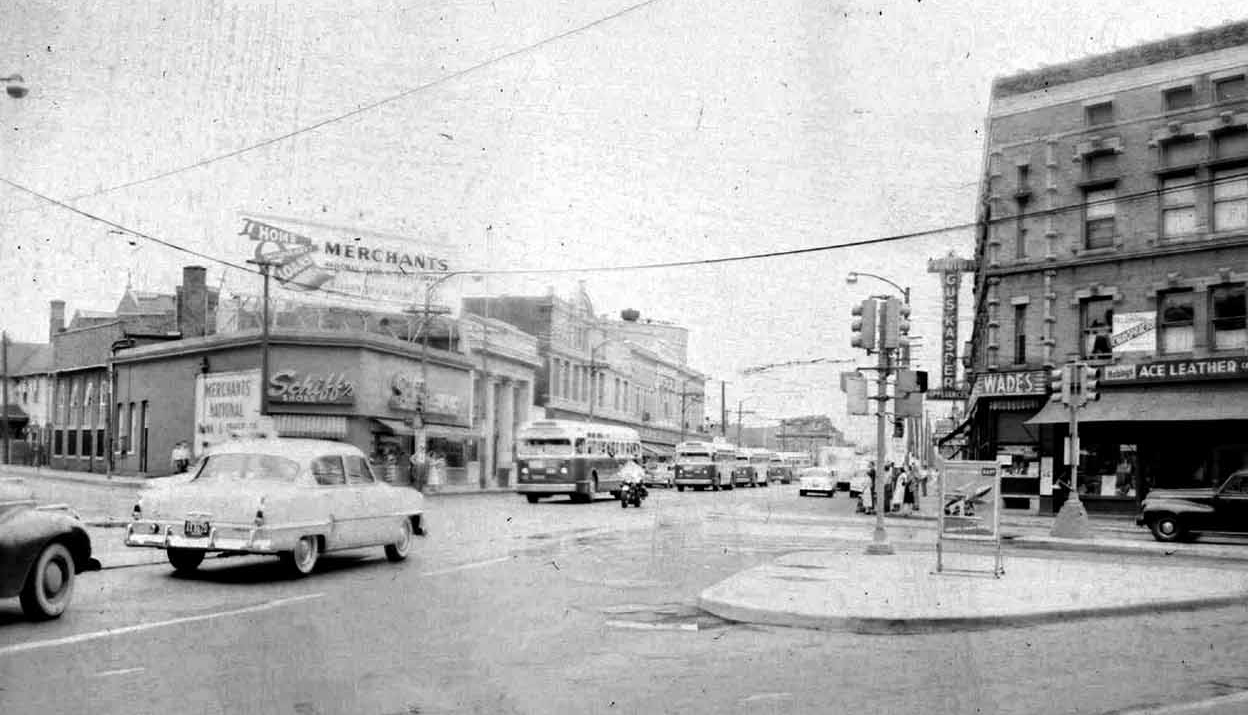 Indianapolis Then and Now: Virginia Avenue at Prospect