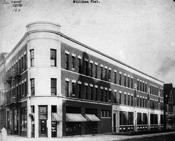 Then & Now: Millikan Flats / Barton Tower / Millikan on Mass, 500 Block of Massachusetts Avenue