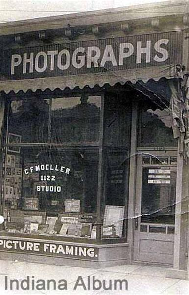 Indianapolis Then and Now: Moeller Photograph Studio, 1122 Prospect Street