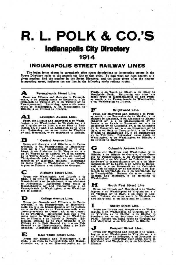 Indianapolis City Directory for 1914