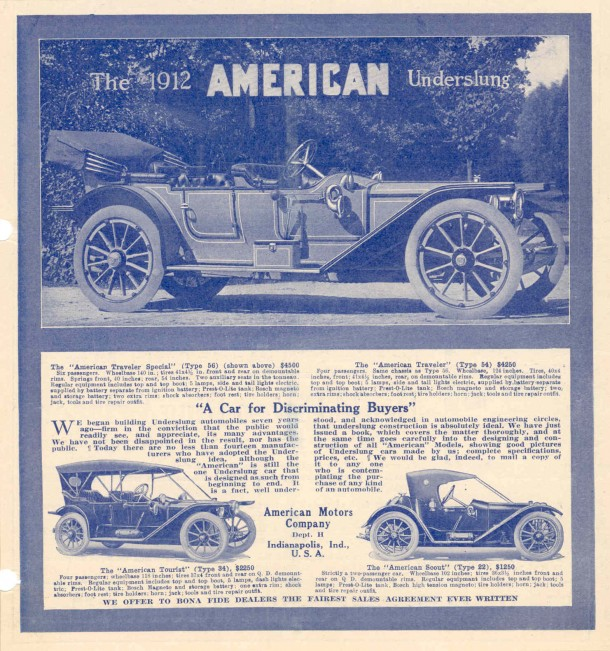 1912 American Underslung ad