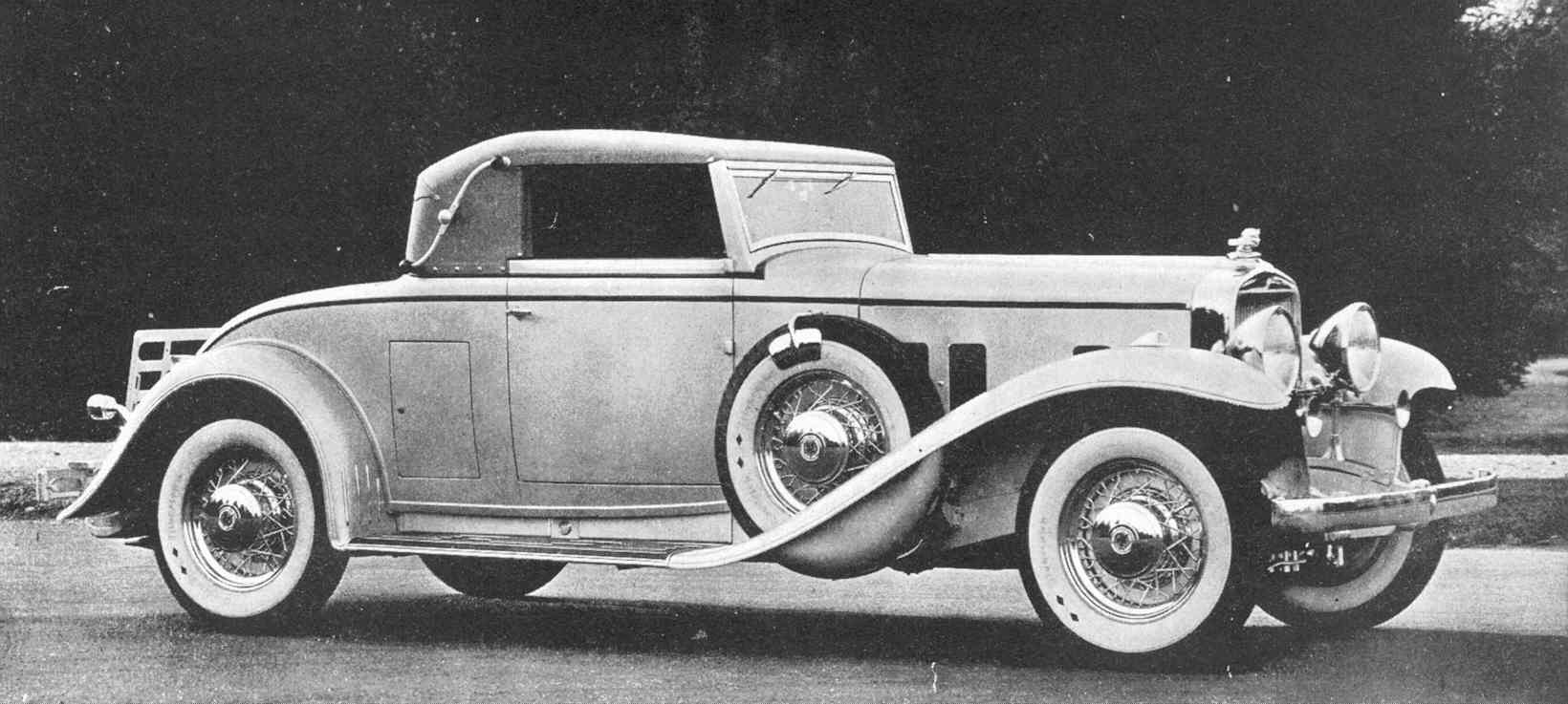 The 1933 DV-32 Cabriolet Coupe was one of the last cars made by ...