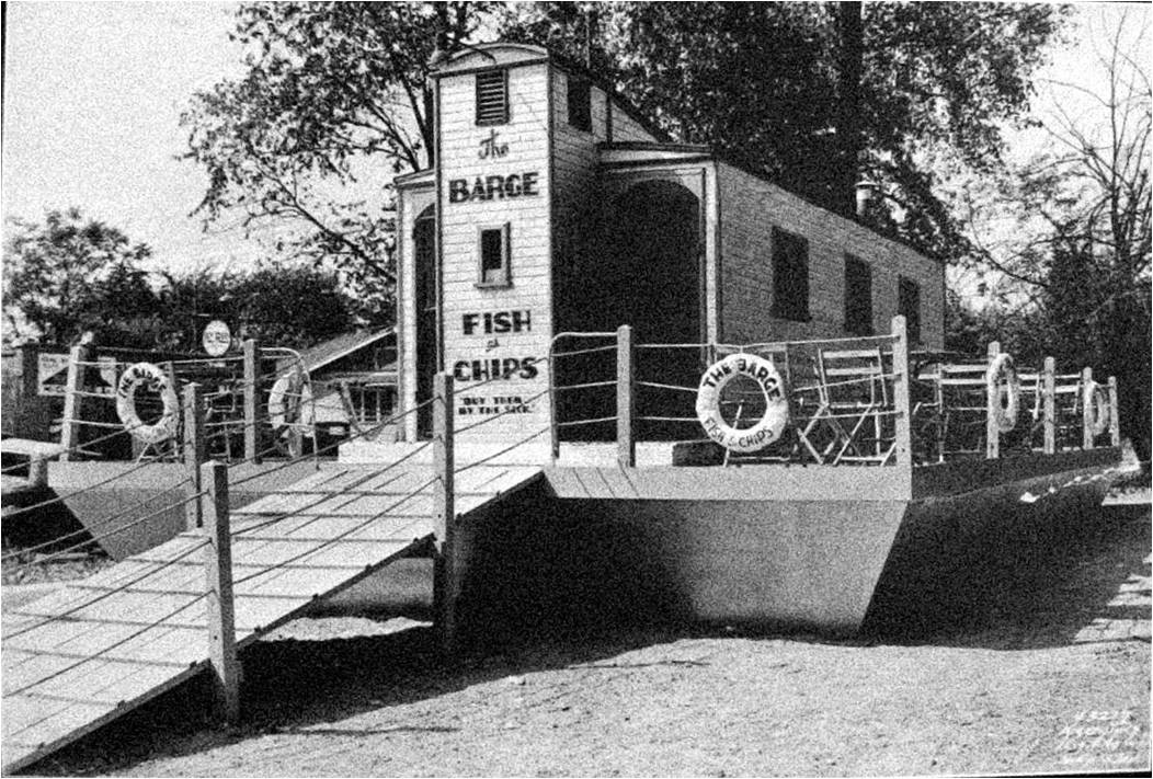Indianapolis Then & Now: The Barge Fish 'n Chips, 3902 E. Washington Street