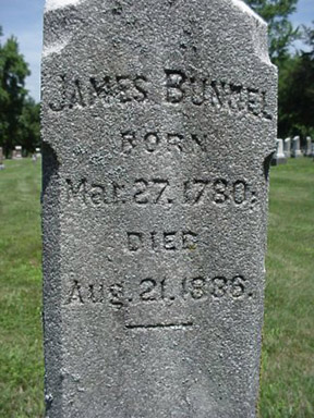 The original owner of the land at 75th and College is buried in the Union Chapel Cemetery