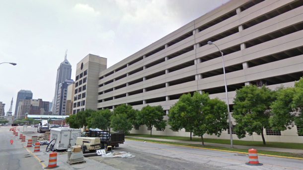 Bank One Parking Garage, Courtesy of Google Street View, July 2009