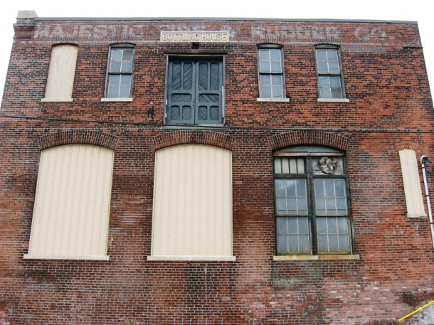 North facade of the Bottling House, photograph courtesy of Reclaimed Vintage Industrial