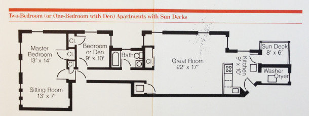 Sylvania Floor Plan - Acquisition & Restoration Corp. Pamphlet ca. 1980's