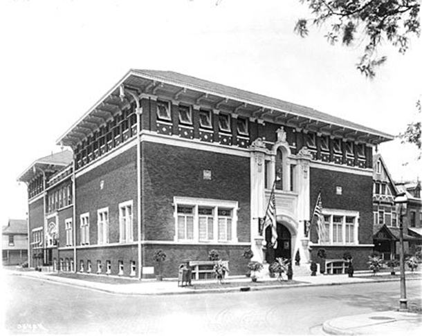 The Independent Turnverein built a new facility at 902 N. Meridian Street in 1914 (photo courtesy of Indiana Historical Society)