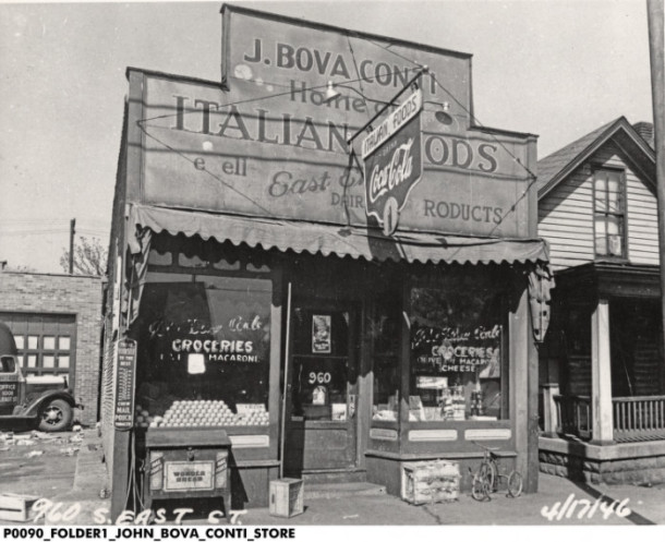 J. Bova Conti Italian Foods, Courtesy of the Indiana Historical Society, Italian American Collection