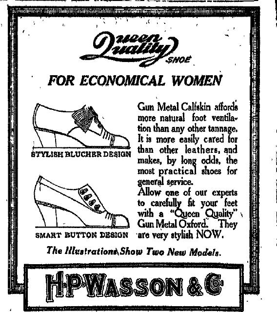 Sunday Advert: H.P. Wasson
