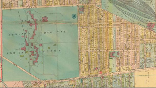 Map of the Hawthorne neighborhood as it appeared in 1916 (map courtesy IUPUI Baist and Sanborn map collection)