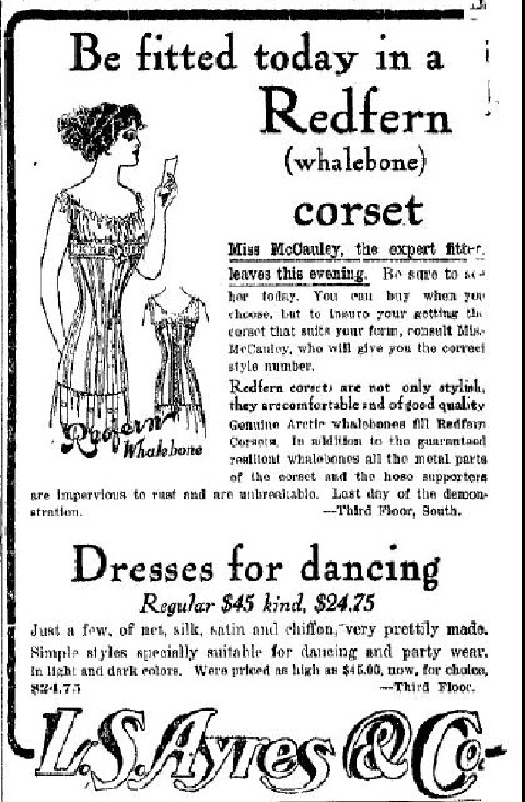 Sunday Adverts: Redfern Corsets