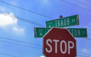 Traub-Avenue-Street-Sign-Historic-Indianapolis-Sergio-Bennett
