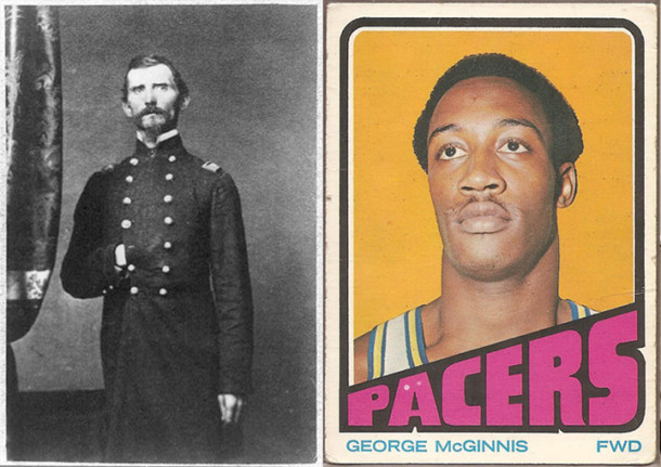 The George McGinnis on the left, not George McGinnis on the right.