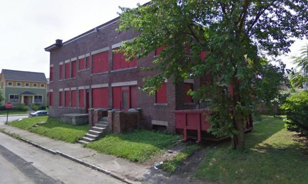 Rear view of 1654 N. Alabama Street, as seen in 2009. (© 2013 Google)