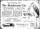 1912 newspaper ad for The Henderson Car