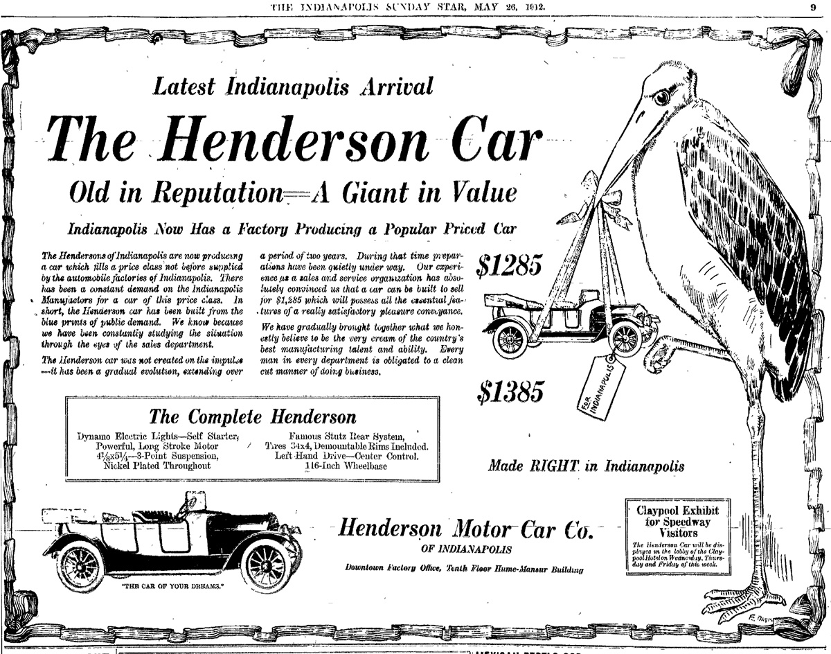 HI Mailbag:  The Henderson Motor Car Company