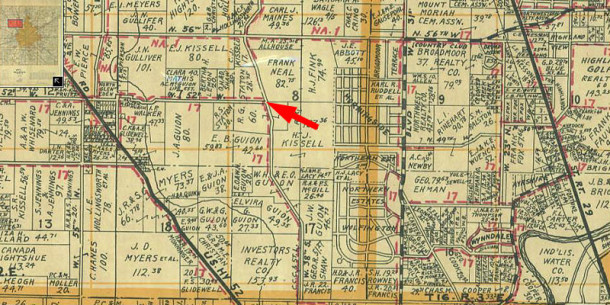 1941 Wagner Map shows who the property owners were at that time (map courtesy of Indiana State Library)