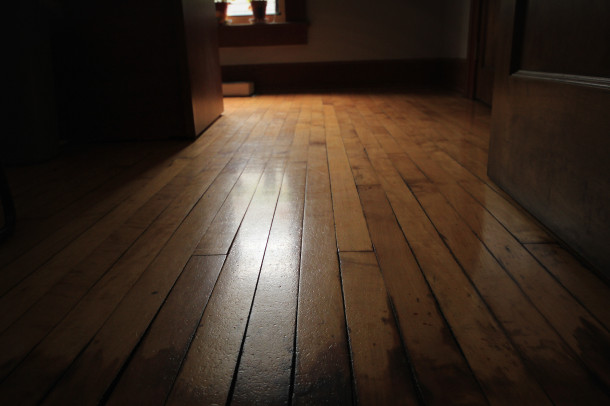 Floor in office upstairs, 2013, (c) photo by Kurt Lee Nettleton