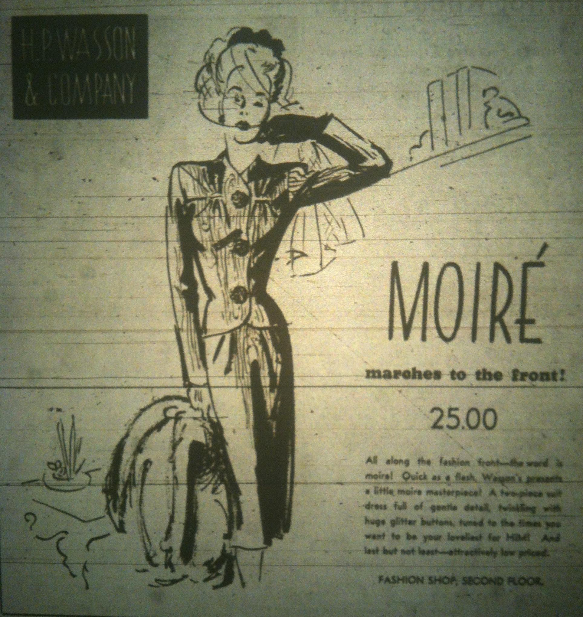 Ladies Lounge: 1942 Suit, HP Wasson