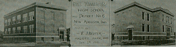 In 1909, the first Pike Township building to contain only high school students was built (photo courtesy of the Pike Historical Archives)