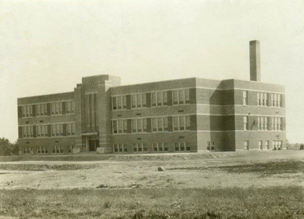 The second building to become a high school in Pike Township was constructed in 1938 (photo courtesy of Pike Historical Archives)