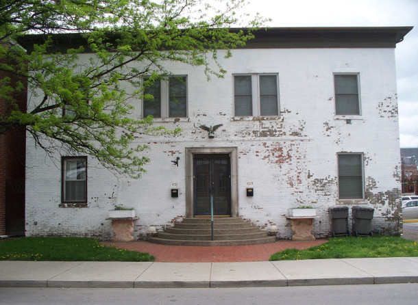 The two-family residence at 429-431 E. Vermont Street is immediately east of the Athenaeum (photo by Sharon Butsch Freeland)