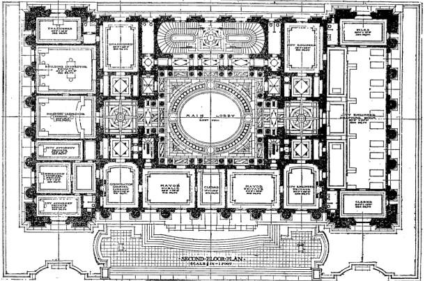 Floor plan, second floor, IndyStar, 2/15/1909
