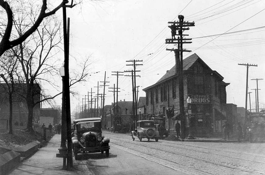Indianapolis Then And Now S Meridian Street And Bluff