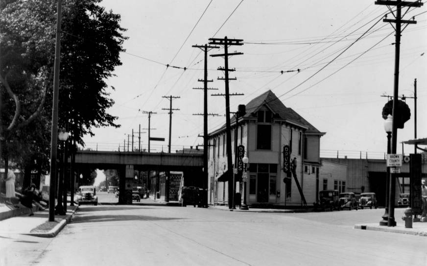 Indianapolis Then and Now: S. Meridian Street and Bluff Road
